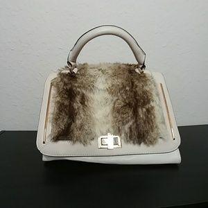 Aldo Faux Fur Fashion Handbag / Crossbody Purse
